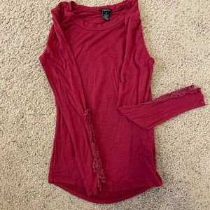 Long Sleeve with crochet detail on arm